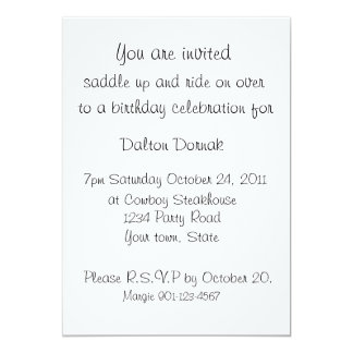 VINTAGE COWGIRL WESTERN PARTY INVITATION