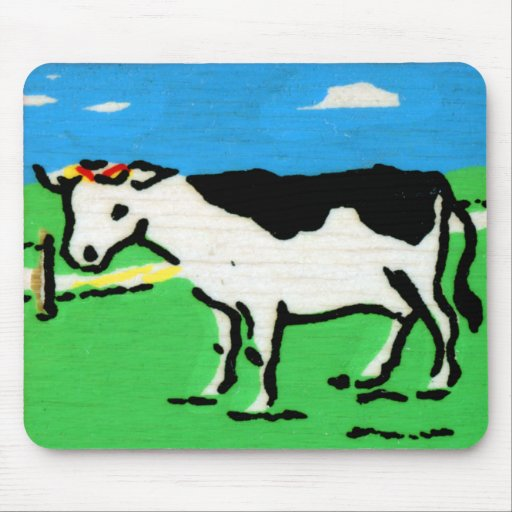Vintage Cows Kids Spelling Alphabet C is for Cow Mousepads