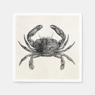 Vintage Crab Antique Crabs Personalized Template Disposable Napkins