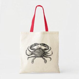 Vintage Crab Drawing Tote Bag