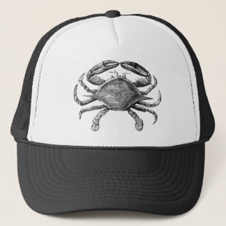 Vintage Crab Drawing Trucker Hat