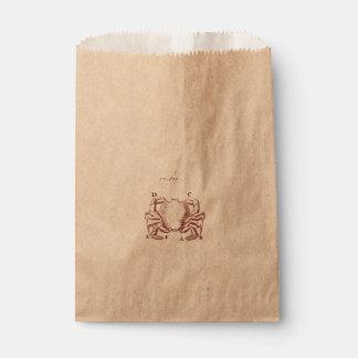 Vintage Crab Illistration Favour Bags