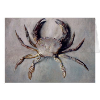 Vintage Crab Painting Card