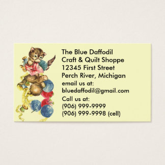 Vintage Craft Supply Quilting Quilt Business Cards