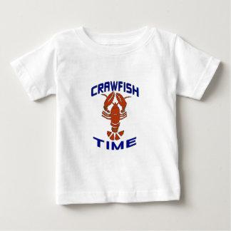 Vintage Crawfish Time Clock Baby T-Shirt