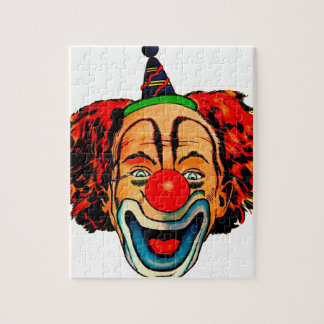 Vintage Crazy Clown Jigsaw Puzzle