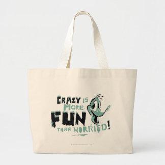 Vintage Crazy DAFFY DUCK™ Large Tote Bag