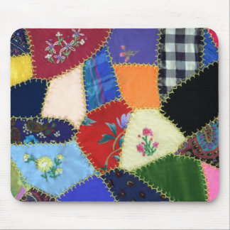 Vintage Crazy Quilt Mousepad-No Border Mouse Mat