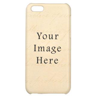 Vintage Cream Beige Script Text Parchment Paper iPhone 5C Covers