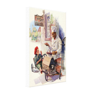 VINTAGE CREAM OF WHEAT ADVERTISEMENT CANVAS WRAP STRETCHED CANVAS PRINT
