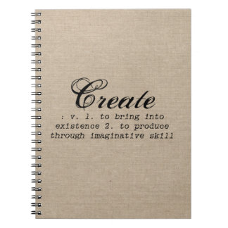 Vintage create definition rustic girly chic brown notebooks