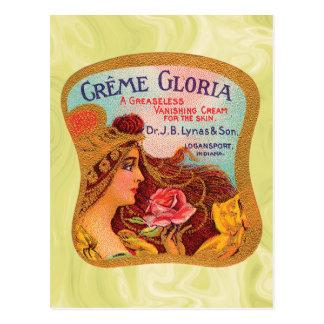 Vintage Creme Gloria Vanishing Skin Creme Postcard