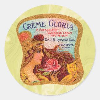Vintage Creme Gloria Vanishing Skin Creme Sticker