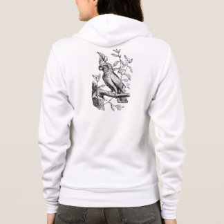 Vintage Crested Cockatoo Parrot Bird Parrots Birds Hoodie
