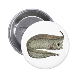 Vintage Crested Oarfish Fish,Marine Aquatic Life, 6 Cm Round Badge