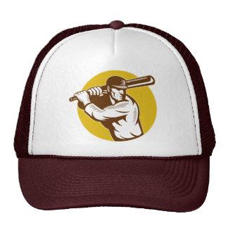 vintage cricket sports batsman batting hat