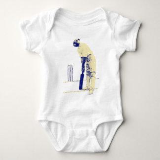 vintage cricketing meerkat. baby bodysuit