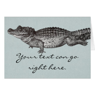 Vintage Crocodile Greeting Card