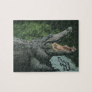 Vintage Crocodile, Marine Animal Life Reptiles Jigsaw Puzzle