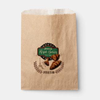 Vintage croissant Favor Bag