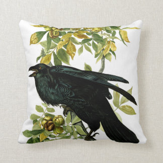 Vintage Crow Black Nature Gothic Fantasy Cushion
