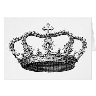 Vintage Crown Black and White Card