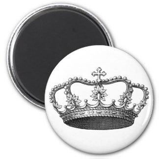 Vintage Crown Black and White Magnet