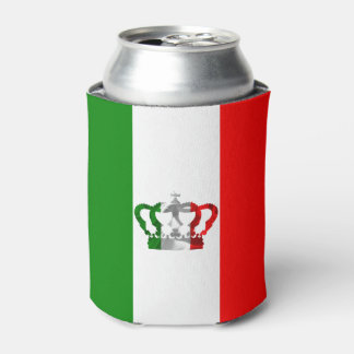 Vintage Crown Modern Italy Italian Flag Can Cooler
