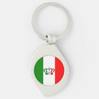 Vintage Crown Modern Italy Italian Flag Key Ring