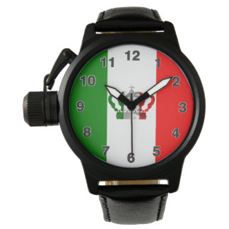 Vintage Crown Modern Italy Italian Flag Wrist Watch