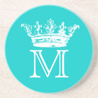 Vintage Crown Monogram Coaster