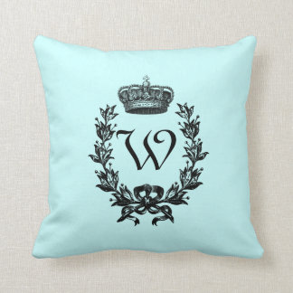 Vintage Crown Monogram Cushion
