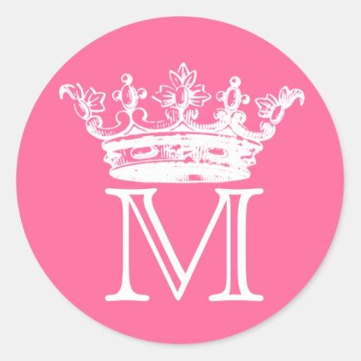Vintage Crown Monogram Sticker