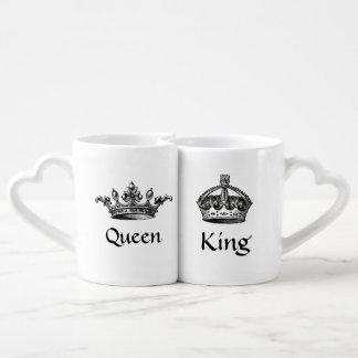 Vintage Crowns Queen/King LOVE Mugs Lovers Mug