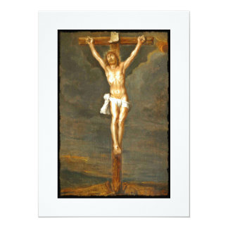 Vintage Crucifixion Image Invite