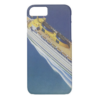 Vintage Cruise Ship in the Ocean Seen from Above iPhone 7 Case