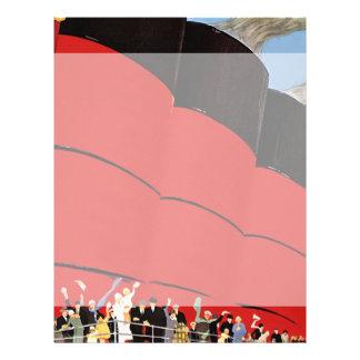 Vintage Cruise Ship Passengers Waving Goodbye Flyer
