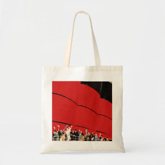 Vintage Cruise Ship Passengers Waving Goodbye Tote Bag
