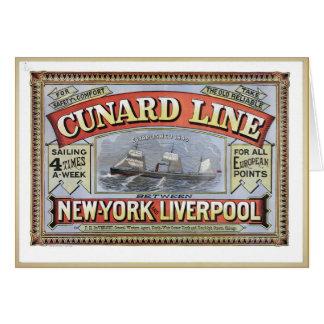 Vintage Cruise Ship Postcards Greeting Card