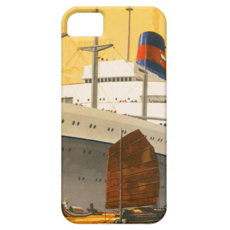 Vintage Cruise Ship to the Orient with Junks Boats iPhone 5 Cases