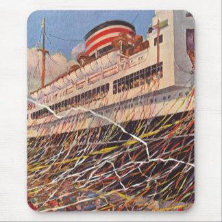 Vintage Cruise Ship Vacation; Bon Voyage Party! Mouse Mat
