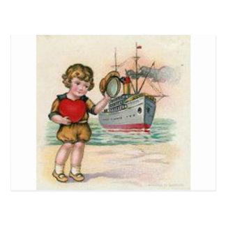 Vintage Cruise Ship Valentine Postcard
