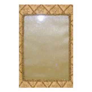VINTAGE Crystal Frame Stationery Design