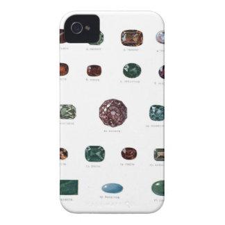 Vintage crystal gemstone gems diamond print Case-Mate iPhone 4 cases