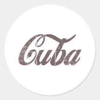 Vintage Cuba Classic Round Sticker