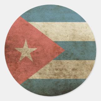 Vintage Cuba Round Sticker