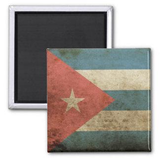 Vintage Cuba Square Magnet
