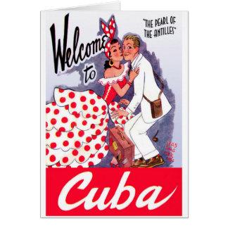 Vintage Cuba Tourist Greeting Card