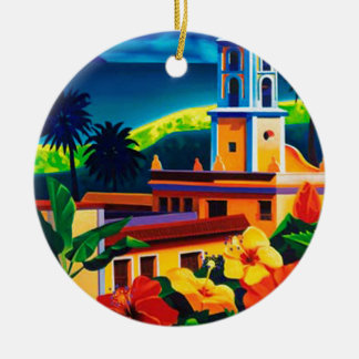 Vintage Cuba Travel Christmas Ornament