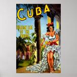 Vintage Cuba Travel Poster - Holiday Isle Tropics